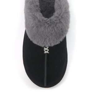 Secret Treasure Black Leather Clog Slipper 7/8 NWT